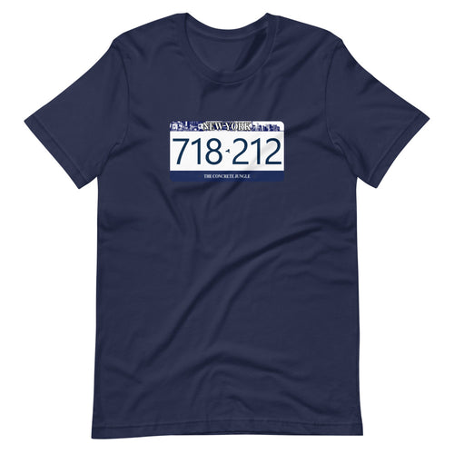 Concrete Jungle License Plate Custom Graphic T-Shirt
