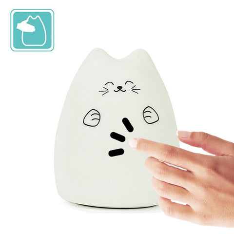 Veilleuse chat tactile
