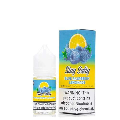 [US Warehouse]Stay Salty Salts Blue Raspberry Lemonade 30ml Nic Salt Vape Juice