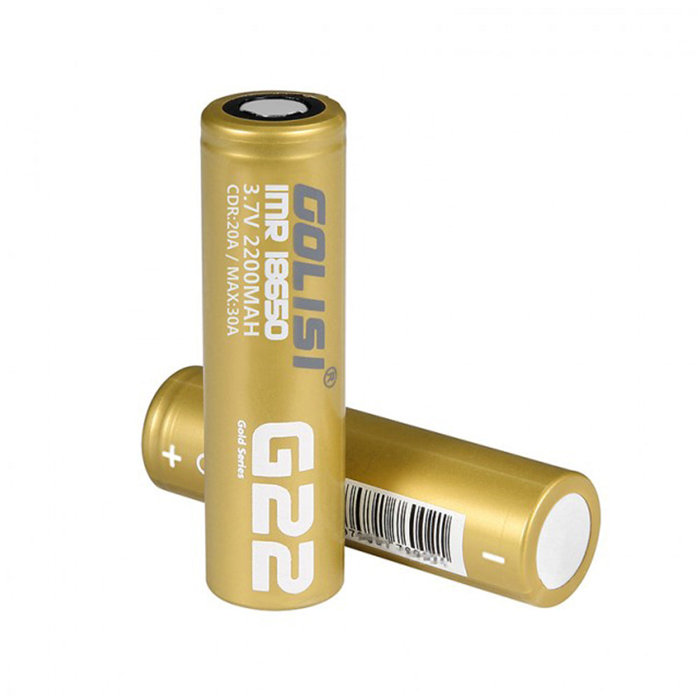 (Pre-order) GOLISI IMR G22 18650 2200mah 20A Battery (2pcs/pack)