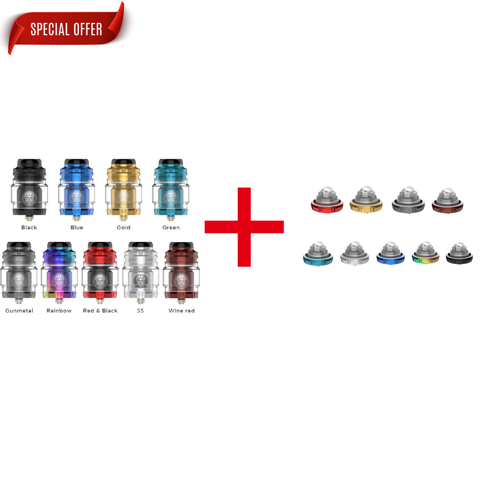 (Combination) Geekvape Zeus X Mesh Version RTA 25mm + Geekvape Zeus X Version Build Deck