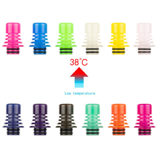 REEWAPE AS275W Resin 510 Drip Tip-Random Color