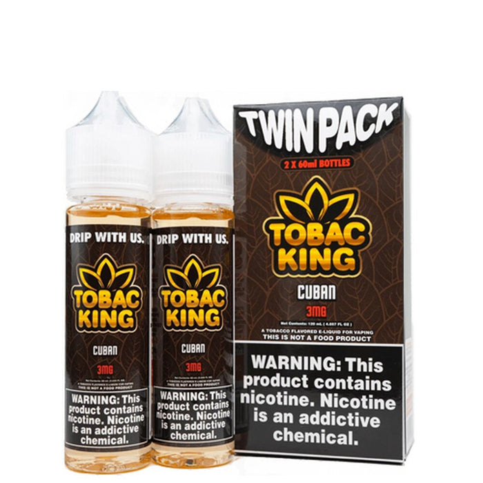 [US Warehouse] Tobac King Twin Pack Collection 2x60ml E-Liquid