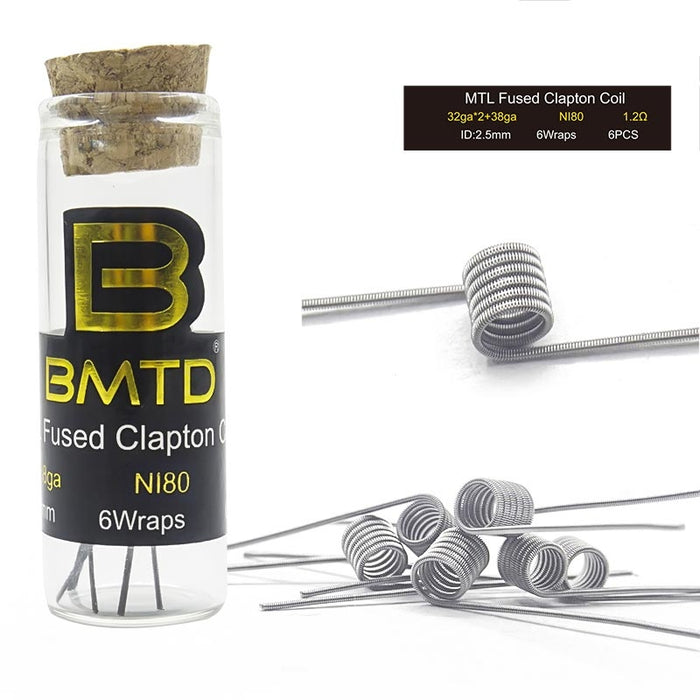BMTD Ni80 MTL Triple Fused Clapton Coil