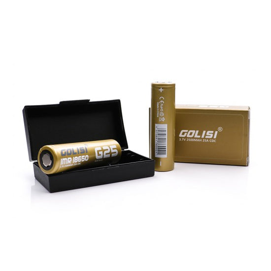 GOLISI IMR 18650 25A 2500mAh Battery with Flat Top
