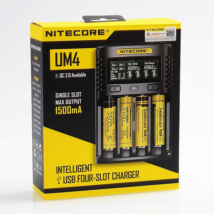 Nitecore UM4 intelligent usb charger