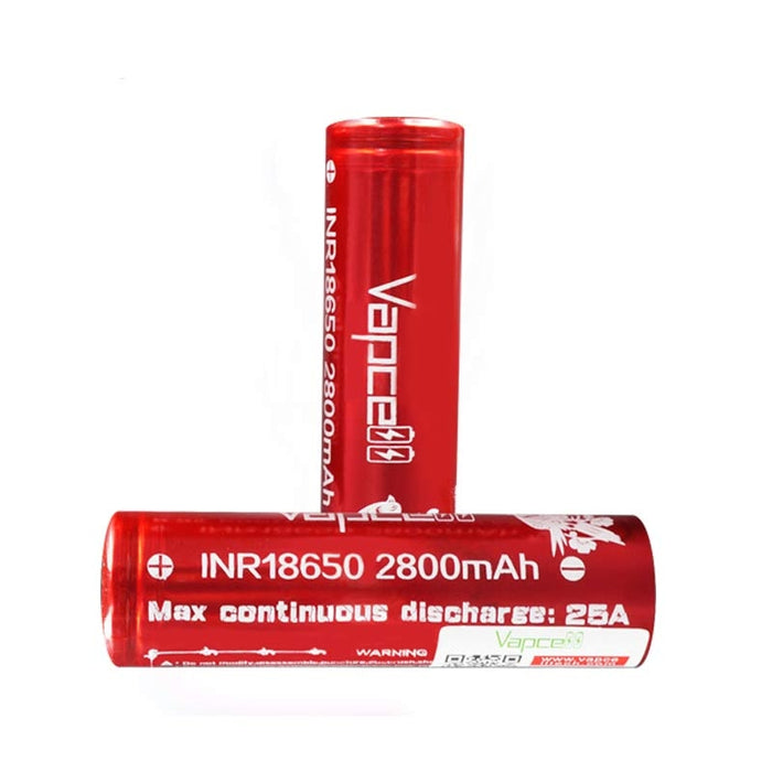 Vapcell Rechargeable 18650 battery 2800mAh 25A (2pcs/box)