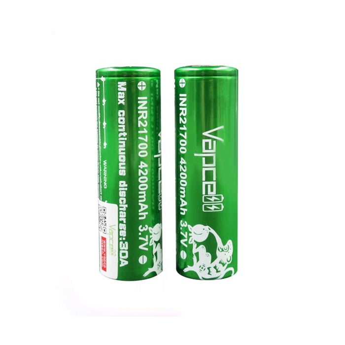Vapcell Rechargeable INR21700 battery 4200mah 30A(2pcsbox)