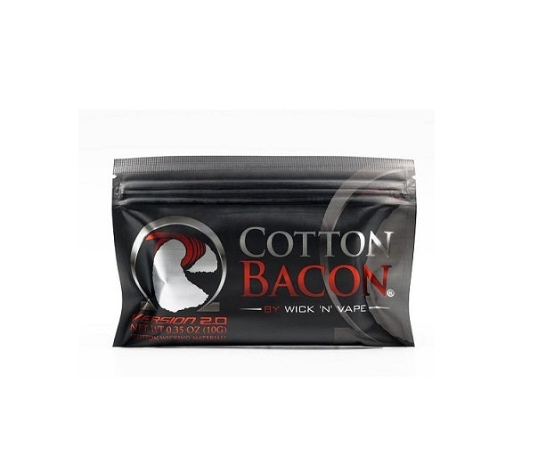 [US Warehouse] Wick 'N' Vape Organic Cotton Bacon V2 (10 Pieces)