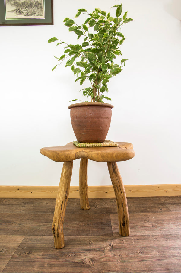 Unique three-legged side table