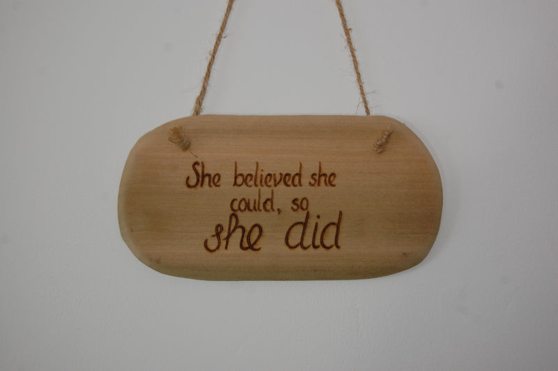 She Believed... String Hanging