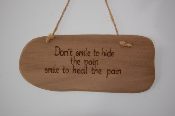 Smile to Heal the Pain String Hanging