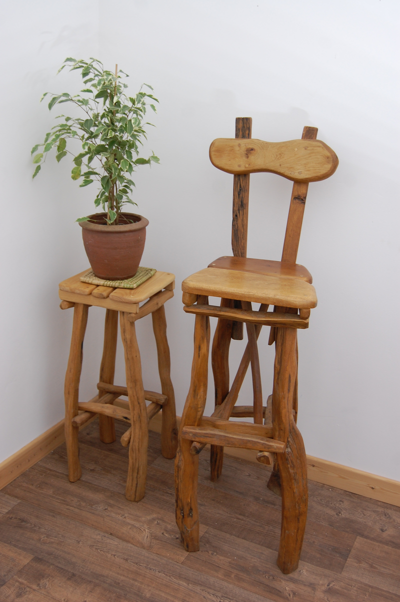 Tall Stool with Backrest