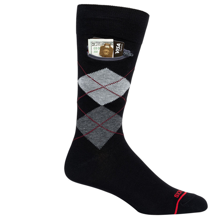 ARGYLE GREY BLACK - Mens