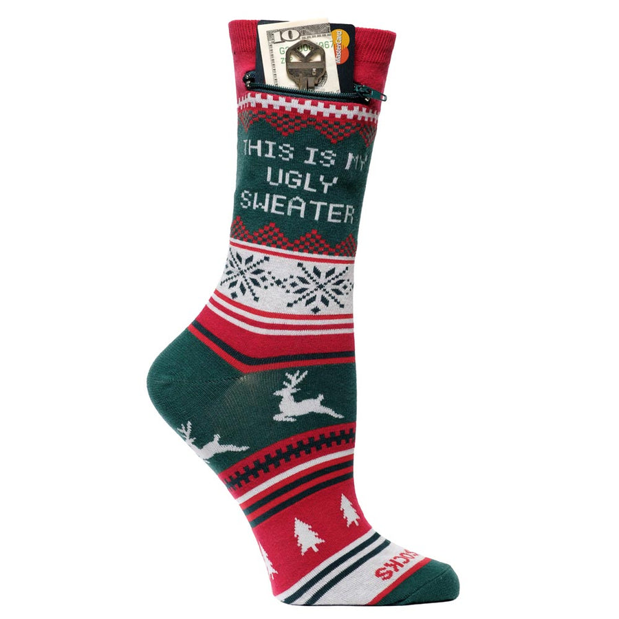My Ugly Sweater Pocket Socks - Limited Edition