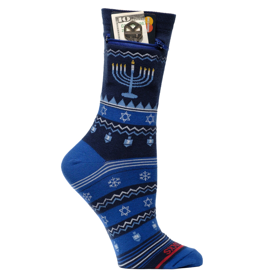Hanukkah Sweater Pocket Socks - Limited Edition