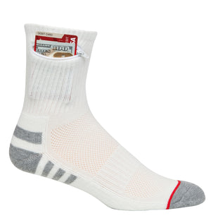Ankle Everyday Security Pocket Socks, White