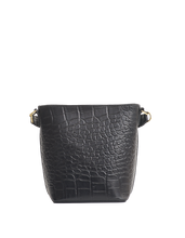 Afbeelding in Gallery-weergave laden, Bobbi bucket bag croco black classic leather - black