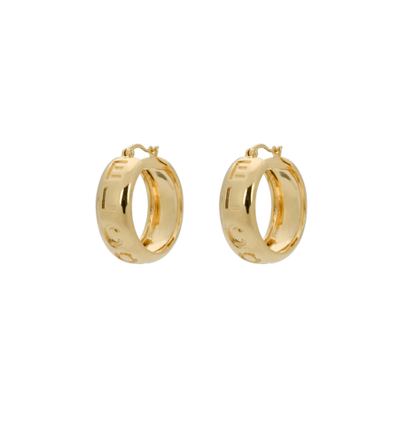 El corazon hoop earrings - Gold