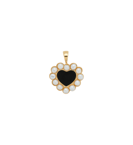 Forbidden love necklace charm - Gold