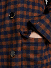 Afbeelding in Gallery-weergave laden, Slfelement check wool coat - martime blue check