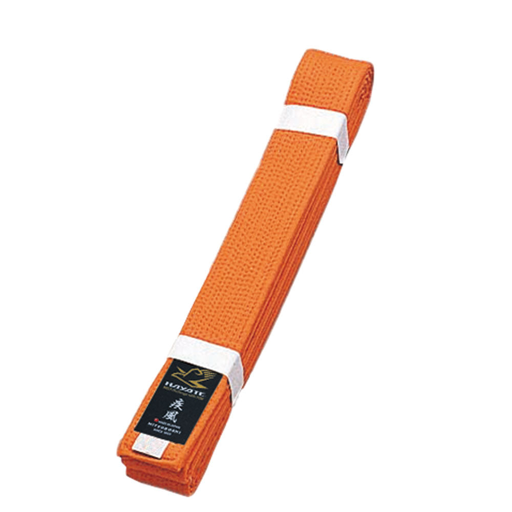 Deluxe Karate Orange Obi Belt