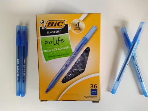 Bic stic around bleu