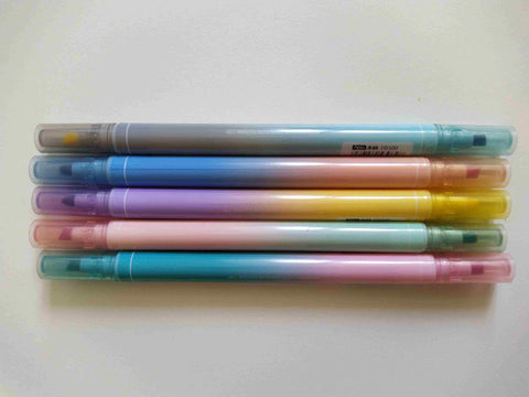 lot de 5 surligneurs color on color pen spinning parts