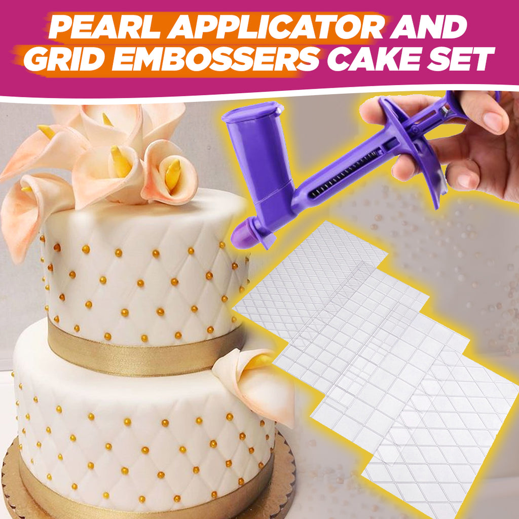 Pearl Applicator and Fondant Embossers Cake Set