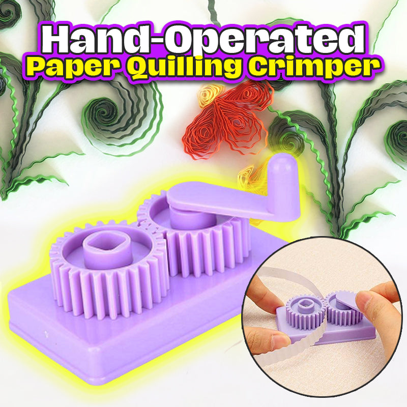 Hand-Operated Paper Quilling Crimper