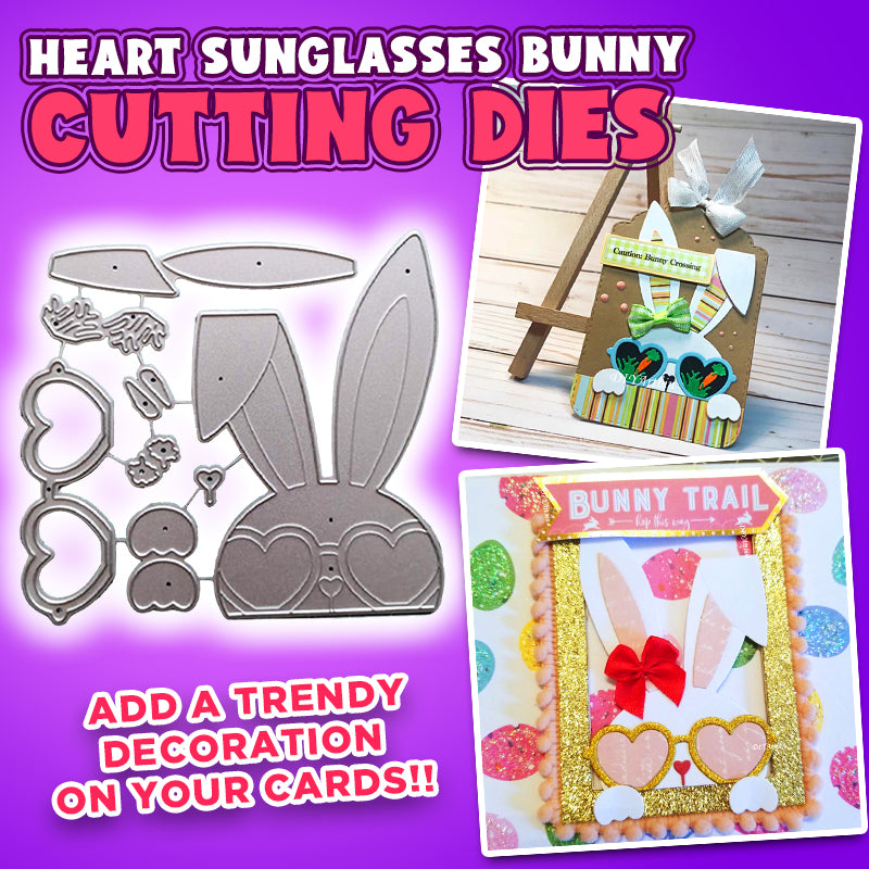 Heart Sunglasses Bunny Cutting Dies