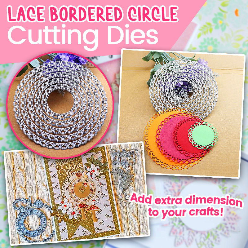 Lace Bordered Circle Cutting Dies