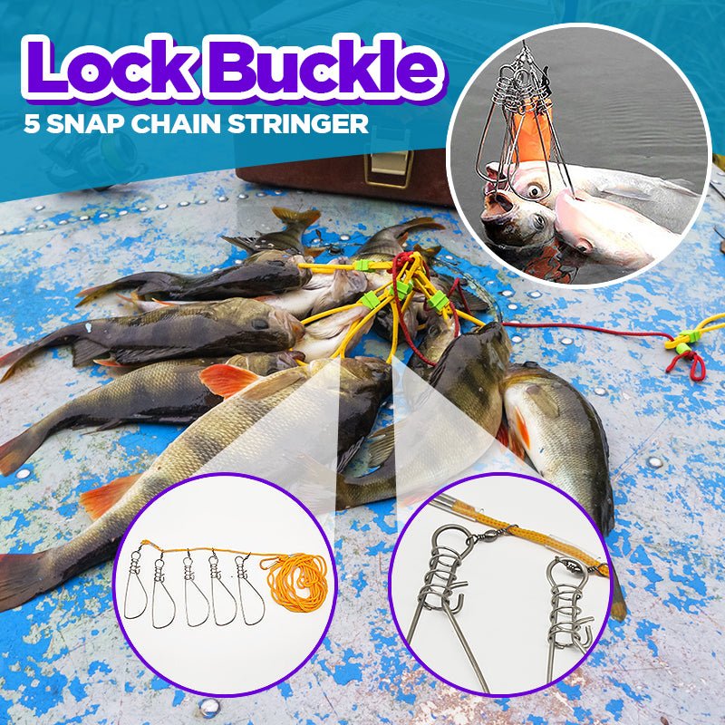 Lock Buckle 5 Snap Chain Stringer