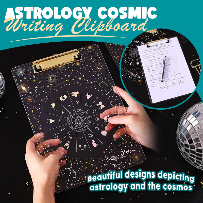 Astrology Cosmic Writing Clipboard