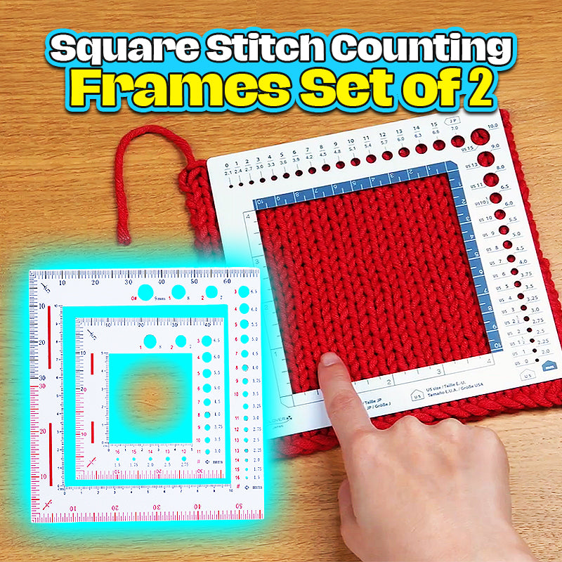 Square Stitch Counting Frames Set of 2