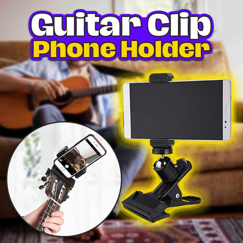 Guitar Clip Phone Holder