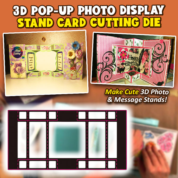 3D Pop-up Photo Display Stand Card Cutting Die