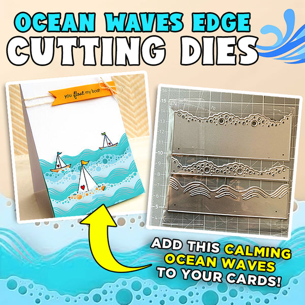 Ocean Waves Edge Cutting Dies