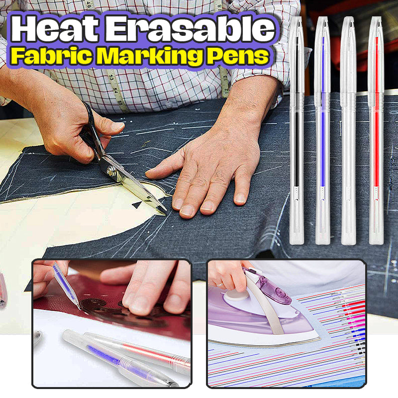 Heat Erasable Fabric Marking Pens (40 Pcs)