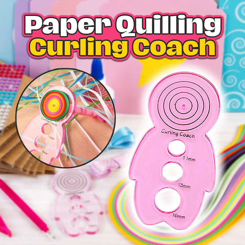 Paper Quilling Curling Coach