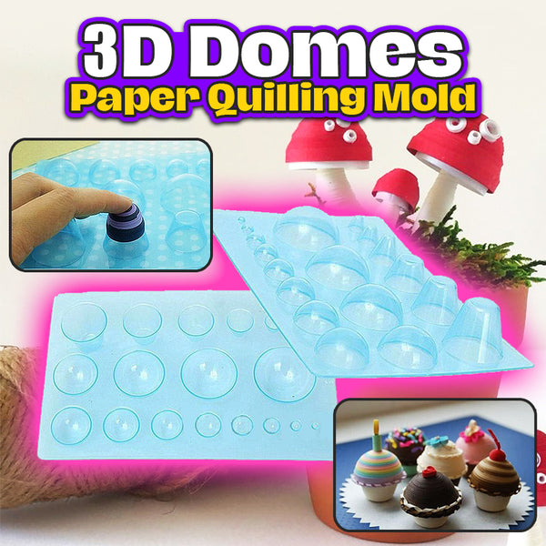 3D Domes Paper Quilling Mold