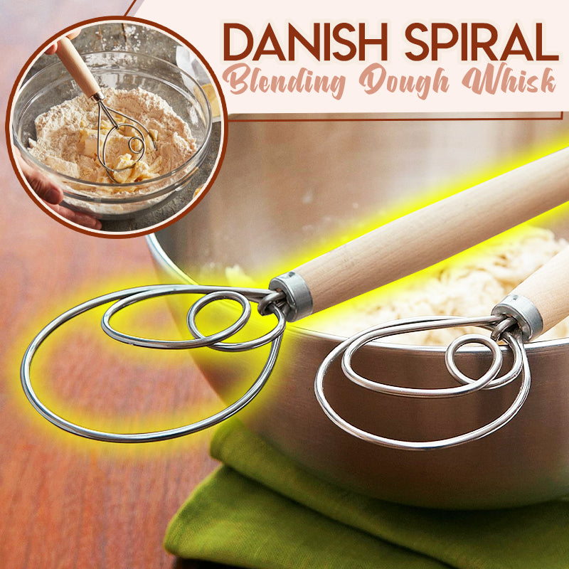 Danish Spiral Blending Dough Whisk
