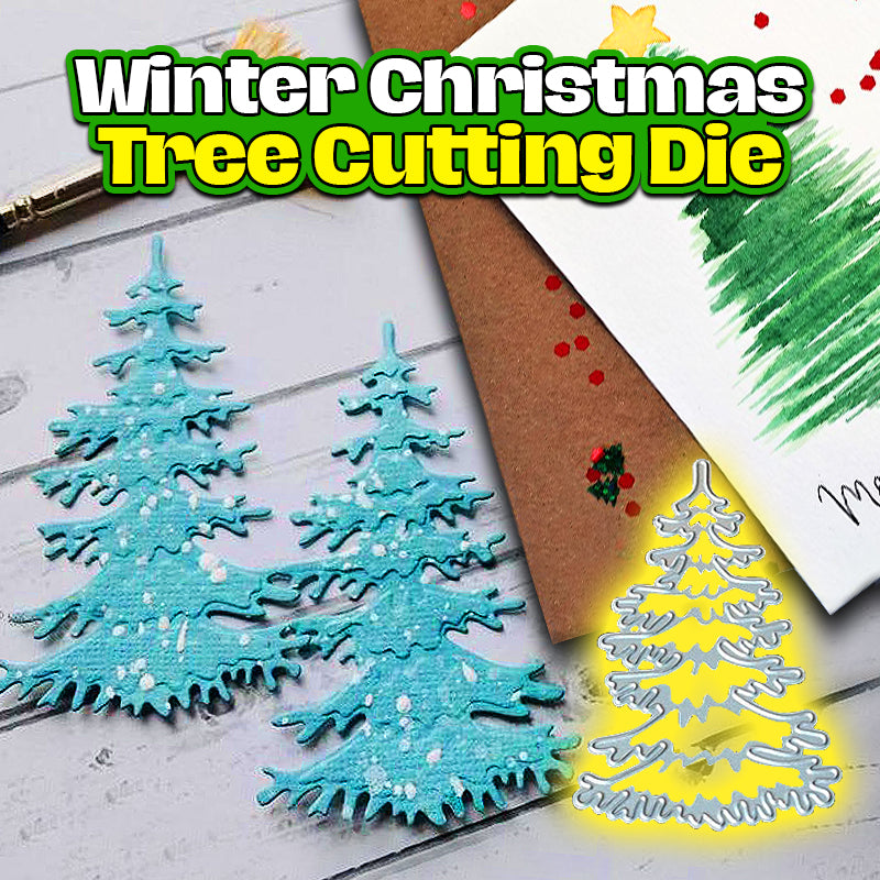 Winter Christmas Tree Cutting Die