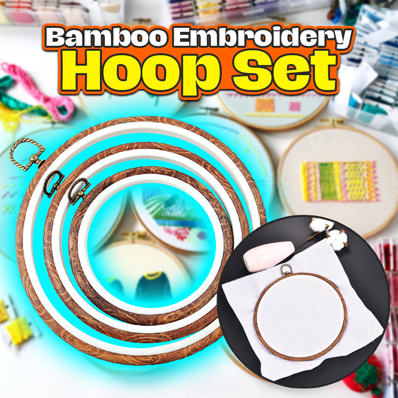 Bamboo Embroidery Hoop Set
