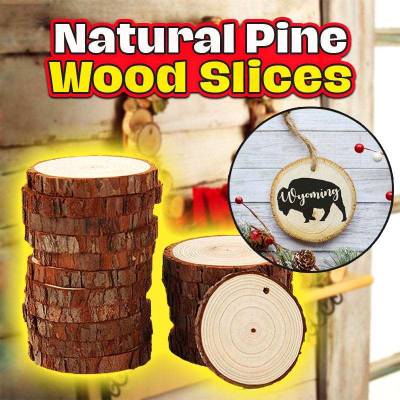 Natural Pine Wood Slices