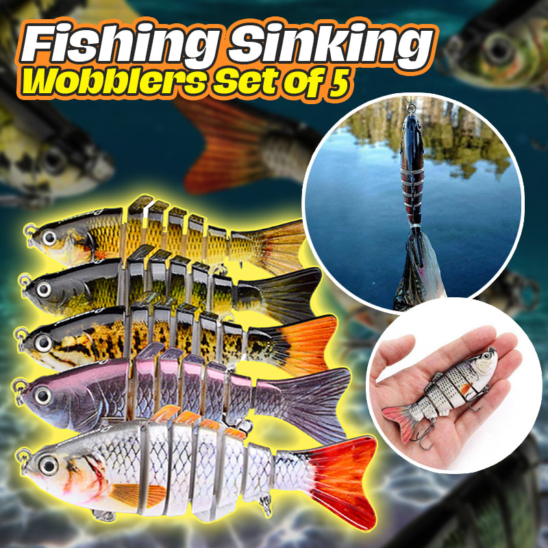 Fishing Sinking Wobblers Set of 5