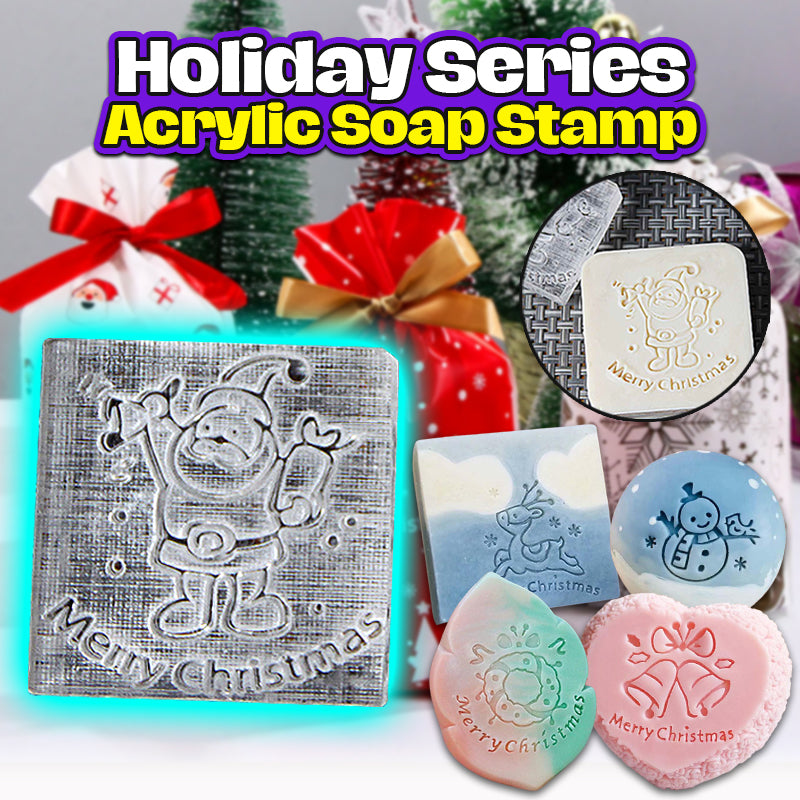 Holiday Series Acrylic Soap Stamp