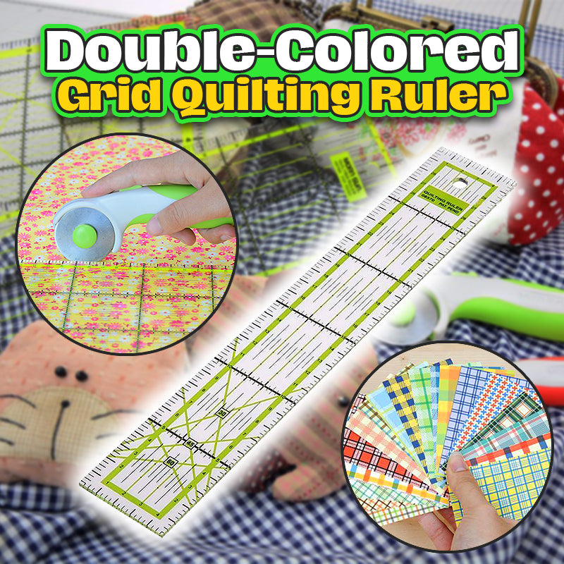 Double-Colored Grid Quilting Ruler