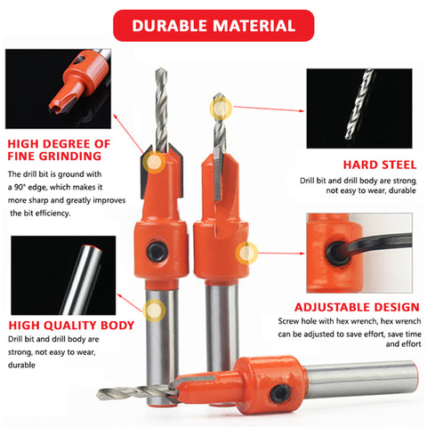 DIY-Rex 7-in-1 Countersink Drill Bit Set