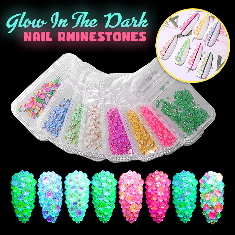 Glow In The Dark Nail Rhinestones